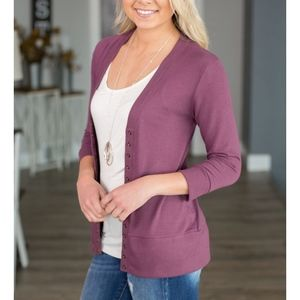 Softest MUST HAVE Cardigan - PLUM